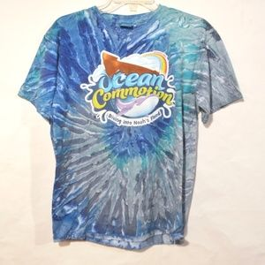 Ocean Commotion Shirt Blue Size XL Youth Tie dye